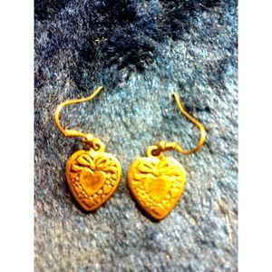 Vintage Pair Of~Retro Heart Earrings